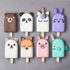 Anime Popsicles baking backen mitbringsel Best Picture For Polymer Clay Crafts For Your Taste You are looking for something, and it is going to tell you exactly what you are looking for, Fimo Kawaii, Polymer Clay Kawaii, Polymer Clay Charms, Polymer Clay Cake, Kawaii Crafts, Kawaii Diy, Magnum Paleta, Kreative Desserts, Biscuit