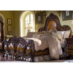 Living Better Now Wooden Panel Bed Frame Headboard Footboard Queen Bedroom Sleep Furniture Home Decor New