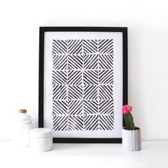Monochrome Patterned Print