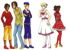 Mickey and Friends, Humanized. Love how mickey and minnie are drawn in a new light.
