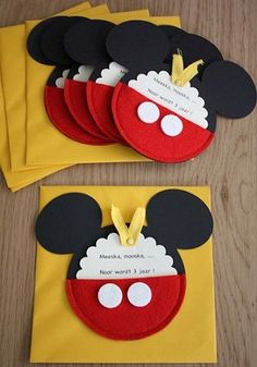 Invitaciones Fieltro Mickey