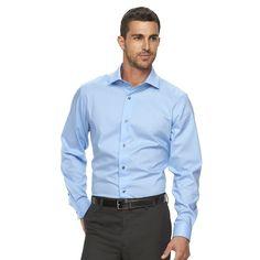 Men's Marc Anthony Slim-Fit Non-Iron Dress Shirt, Size: 16.5-32/33, Light Blue