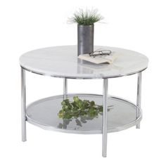 Palma soffbord marmor Ø80 cm