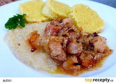 Výpečky na smažené cibuli, hrubozrnné hořčici a medu Czech Recipes, Ethnic Recipes, Ham, Curry, Pork, Rice, Beef, Treats, Chicken