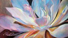 Succulent oil painting by Fred Tangalin- Kauai fine artist.