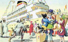 .Eugen Hartung - Illustrator for Alfred Mainzer Postcards