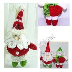 1Pair snowman & CHRISTMAS gift Xmas CRAFTS DECORATION plush Santa Claus doll  #Unbranded
