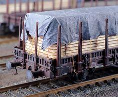 Kb(g)s 442, Holzstapel als LadegutMarc. Heckmann Modellbahnbau.