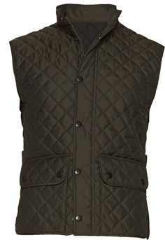 Perfect for a day at the barn!  Green Quilted Vest Bw007 | Suitsupply Online Store