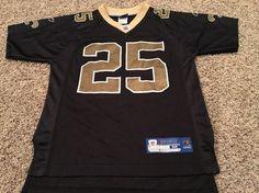 37b0f6812 Youth Medium 10 12 Reggie Bush 25 New Orleans Saints Jersey NFL Reebok