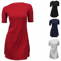 Womens Short Cap Sleeve Midi Ladies Plain A-Line Skater Swing Flared Top Dress