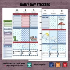 #Rainy Day Day #Weekend Jelly Abit of backstory; this design started out as a mini Happy Planner kit. But has since attract a some positive attention and so I decided to share a classic Happy Plan…