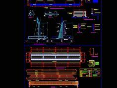 Puente de concreto armado estruturas (309.78 KB) | Bibliocad Tv Furniture, Reinforced Concrete, Cad Blocks, Beams