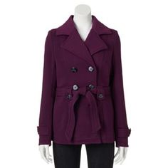 J2 by Jou Jou Fleece Trench Coat - Juniors