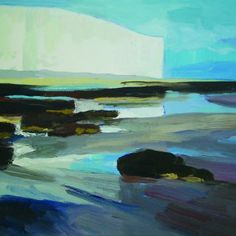 Evening at Low Tide Ancient History, Habitats, Pond, Sisters, Wildlife, Paintings, Sky, Landscape, Water
