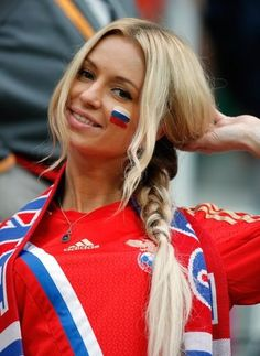 Russian football fans at Euro 2012