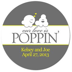 Hey, I found this really awesome Etsy listing at https://www.etsy.com/listing/125804966/set-of-custom-wedding-stickers-popcorn