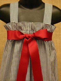 For Shelby:  Black and White Houndstooth Zadee Dress - Alabama Roll Tide Dress. $28.00, via Etsy.