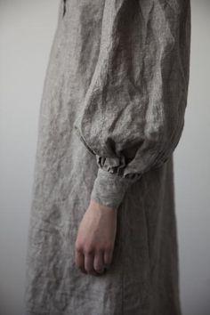 Augusta Linen Dress - Pale Grey / www.ovate.ca