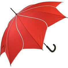 Parapluie forme Fleur - Rouge - Automatique