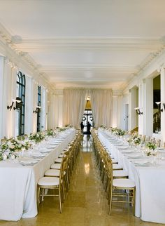 """Thanks to a fabulous team of vendors and her own keen eye, the bride and her mom """"had the best time bringing this night to life"""" at Flood Mansion."""