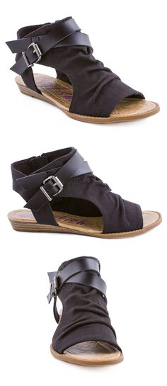 It's so true what they say about black going with every outfit! No wonder why Blowfish Shoes style Balla in black rancher canvas is so popular! Don't miss this summer's hottest sandal!