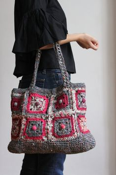 Crochet bag by giftOclock on Etsy