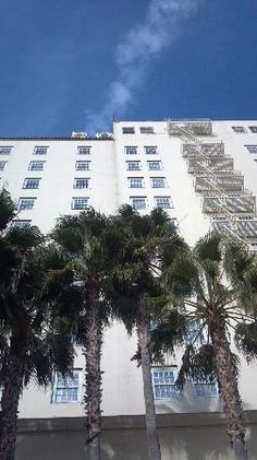 Glitterati Private Tours: Looking up at the legendary #Roosevelt Hollywood #Hotel on Hollywood Boulevard. One step out the door and guests are standing on The Walk of Fame.  Currently, the walk consists of just under 2500 stars. http://celebhotspots.com/hotspot/?hotspotid=5395&next=1