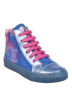 Agatha Ruiz De La Prada Zip Hi Top Trainers, Blue | McElhinneys Department Store