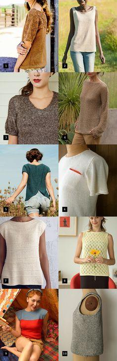 Best summer sweater knitting patterns