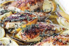 Ina Garten's Lemon Chicken Breast #InaGartenrecipes #chickenrecipes #low-calorie-chicken-recipes #lemon-chicken
