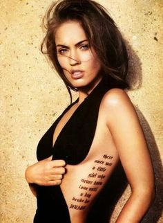 Tattoos for Women Megan Fox