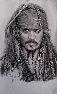 ☠A Wonderful Art Edit ☠Of Jack Sparrow  From The Pirate's Of The Caribbean Trilogy's ☠