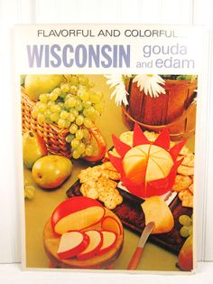 Vintage Poster Cheese Gouda Edam Wisconsin Food by vintagegoodness, $19.95