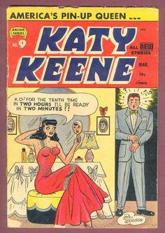 There was a Katy Keene comic book in my grandparents' attic.