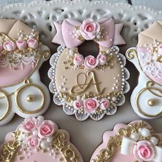 Baby Cookies, Iced Cookies, Baby Shower Cupcakes, Cute Cookies, Royal Icing Cookies, Cupcake Cookies, Royalty Baby Shower, Fancy Baby Shower, Ballerina Cakes