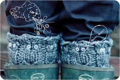 @Dabney Blum Blum Stevens Owl motif legwarmers - irresistible