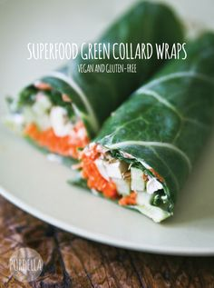 Vegan À La Mode | Superfood Green Collard Wraps | Enter the ULTIMATE SUPERFOOD GIVEAWAY http://contest.io/fb/yc0fogtx