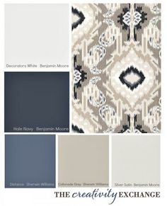 Choosing a Paint Color Palette Using Fabric Inspiration. Tips for picking a paint color palette using fabric inspiration. living room lighting Look Inside Plaid. Interior Paint Colors, Paint Colors For Home, Paint Colours, Office Paint Colors, Playroom Paint Colors, Dining Room Paint Colors, Home Decor Colors, Design Seeds, Wall Colors