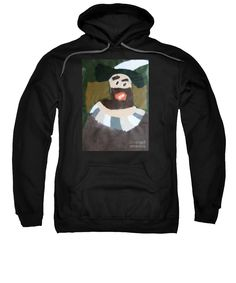 Patrick Francis Black Designer Hooded Sweatshirt featuring the painting Rembrandt 2014 - After Rembrandt Self-portrait by Patrick Francis