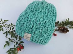 FIAhandmade / Čiapka /diamant Knitted Hats, Beanie, Knitting, Fashion, Hampers, Diamond, Moda, Tricot, Fashion Styles