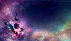 Artist: WenQin Yan Title: Field of Dreams Medium: Digital Canvas Size: 1500 x 875 Gaming Girl, Fisheye Placebo, Yuumei Art, Jessie Ware, Anime Galaxy, Galaxy Pics, Good Vibe, Artist Alley, Field Of Dreams