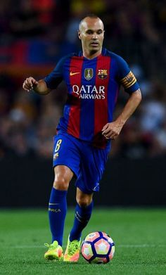 614364efbac Andres Iniesta of FC Barcelona runs with the ball during the La Liga match  between FC