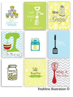 Kitchen Art, Funny Signs, Whip It, Be Grateful, Spin Me, Olive You