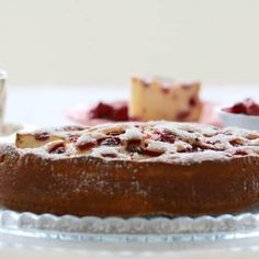 A perfectly simple Thermomix Raspberry & Ricotta Cake that's sure to impress. This is my go-to cake when I need something simple to bake. Raspberry Ricotta Cake, Sweet Recipes, Cake Recipes, Raspberry Recipes, Lunch Box Recipes, Round Cakes, Cake Tins, No Bake Cake, Delicious Desserts