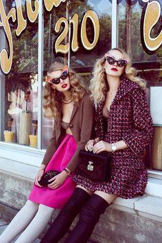 Evgenia Sizanyuk and Anastasija Kondratjeva by Lara Jade for Tatler Hong Kong October 2013. #chanel ss13