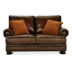 Foster elite 98 leather sofa by bernhardt hom furniture for Hom furniture inc