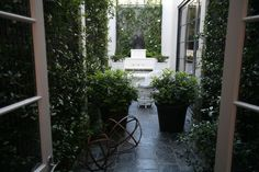 johnjacobinteriors / beautiful green and white, just what you think of for a garden room