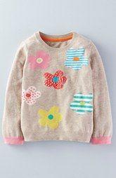 Mini Boden 'Fun' Intarsia Knit Sweater (Toddler Girls, Little Girls & Big Girls)