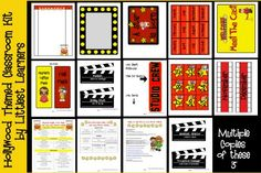 star classroom theme ideas | my 50 page hollywood themed classroom kit is now available in my ...